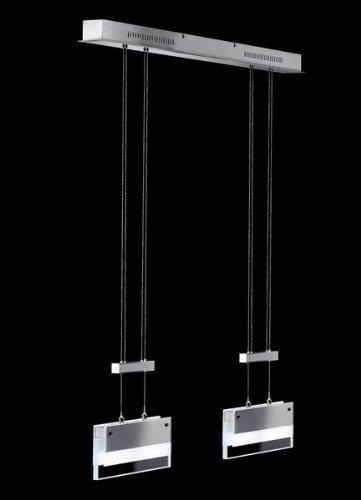 Pendelleuchte Shine Nickel matt / chrom höhenverstellbar inkl. Leuchtmittel