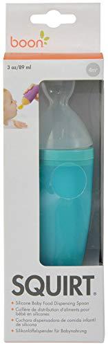 Boon Squirt Babynahrung Abgabe Löffel aus Silikon, blau 1ea