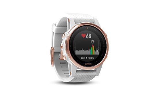 Garmin fēnix 5s, Premium and Rugged Smaller-Sized Multisport GPS Smartwatch, Sapphire Glass, Rose Gold/White 3