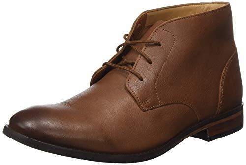 Clarks Herren Flow Top Chukka Boots, Braun (Tan Leather), 46 EU