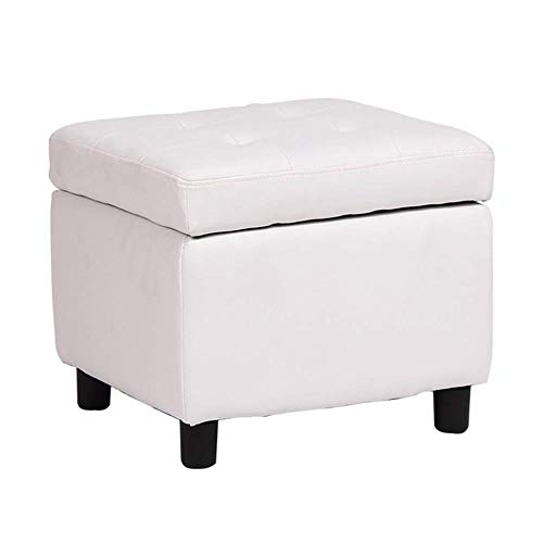 Yxsd Reposapiés otomano cambio zapatos almacenamiento pecho bajo taburete puffe maquillaje taburete sofá banco asiento 45 x 45 x 38 cm