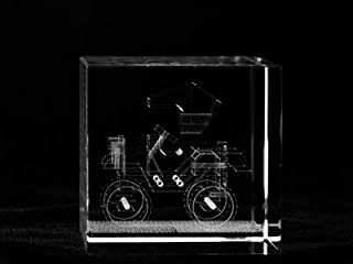 Asfour Crystal 1166-60-113 2. 4 L x 2. 4 H x 2. 4 W inch Crystal Laser-Engraved Classic Car Transportation Laser-Cut