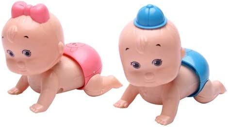 Anniston Kids Toys Cute Windup Crawling Crawl Boy Girl Doll Toy Birthday Gift for Baby Kid Child product image