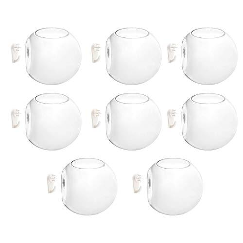 LOVIVER 8pcs Vasos de Parede para Vasos de Flores, Vasos de Vidro, Recipientes para Plantas de Ar de 4 '' de Diâmetro