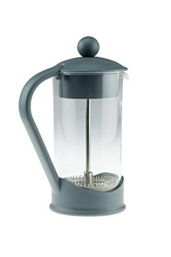 French Press Single Serving Gray Colored Coffee Maker by Clever Chef | Perfect for Morning Coffee | Maximum Flavor Coffee Brewer with Superior Filtration | 2 Cup Capacity (12 fl oz/0.4 Liter)