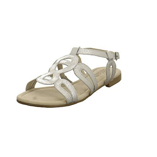 Tizian Damen Mystique 01 Silberfarbene Leder Sandalette Größe 41 EU Silber (Silber)