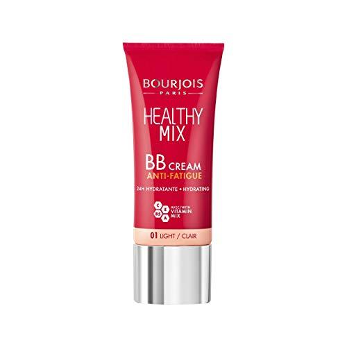 Bourjois - BB Crème Healthy Mix - Anti-fatigue et Révélateur d'Eclat - Teint naturel, unifié, frais et hydraté - 01 Clair 30ml