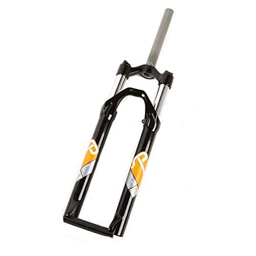 KQBAM Horquilla De Suspensión para Bicicleta De Montaña, Puente Delantero De Aleación De Aluminio De 27,5', Dirección Hidráulica, Recorrido De 1-1/8', 100 Mm