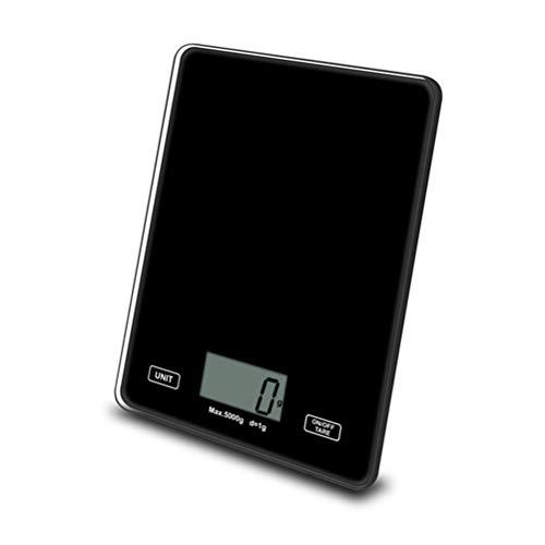 Macabolo Digitale levensmiddelweegschaal, multifunctionele hoge precisie, elektrische keukenweegschaal met LCD-display voor bakken en koken zwart