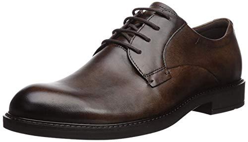 Ecco Vitrus III, Zapatos de Cordones Derby Hombre, Marrón (Cocoa Brown 1482), 45 EU