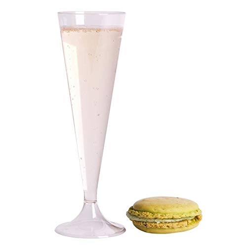 200 Flûtes de champagne plastique transparentes/cristal-Conditionnement au carton