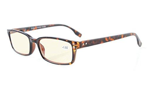 Eyekepper bril tegen blauw licht / leesbril – UV-bescherming, verblindingsbescherming, anti-schimmel, hoofdpijn, filter, blauw licht – NIEUW bril bescherming voor PC Tablet TV Gaming, +3.00, Clair Verre-tortue