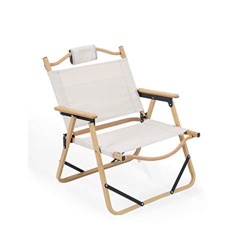 SFS Silla portátil plegable para camping, respaldo completo, silla de director, plegable, para muebles de camping y camping (color blanco)