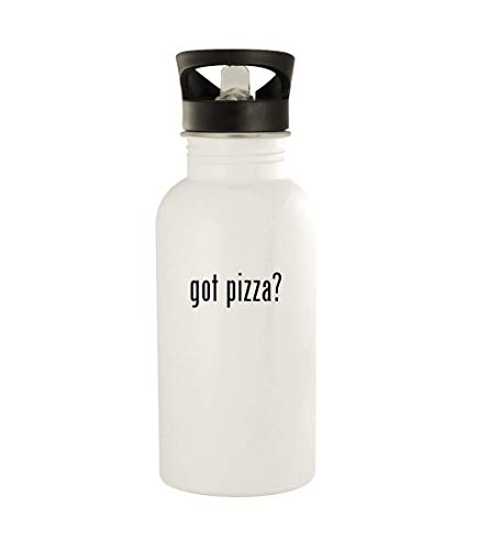 got pizza? - 20oz Stainless Steel Water Bottle, White