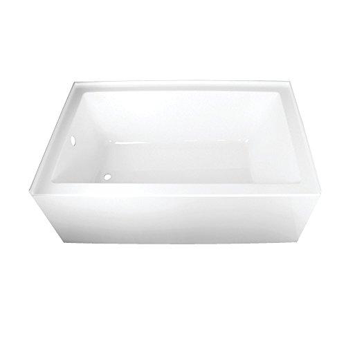 Kingston Brass VTAP603622L Aqua Eden 60-Inch Acrylic Alcove Tub with Left Hand Drain Hole, (L) x 36