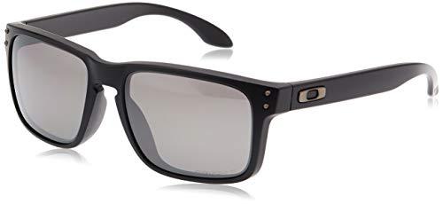 Oakley Men's Holbrook (a) Polarized Iridium Rectangular Sunglasses, Matte Black, 56.01 mm