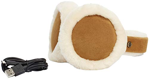 UGG Womens Sheepskin Bluetooth Earmuff In Chestnut