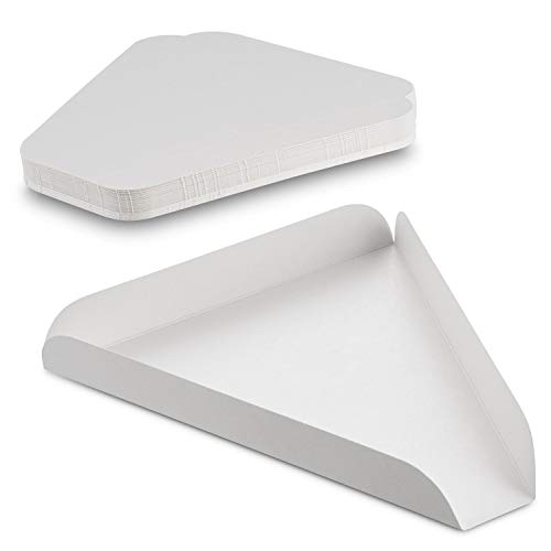 MT Products White Paperboard Single Pizza Slice Wedge Tray (50 Pieces)