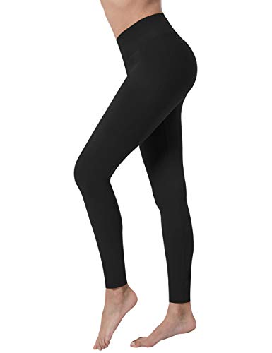 VALANDY High Waisted Leggings for Women Stretch Tummy Control Athletic Workout Running Yoga Pants Black Plus Size