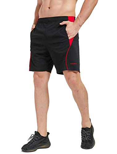 E-SURPA Men's 7' Athletic Running Shorts with Pockets Quick Dry...