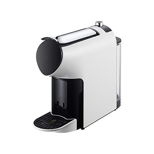 Professionele capsulemachine, Espressomachine, Capsulekoffiezetapparaat, vrijstaande kantoorkoffie Koffiezetapparaat puur wit uiterlijk met waterreservoir met grote capaciteit
