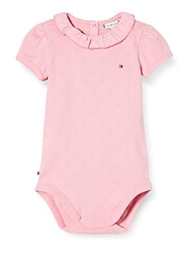 Tommy Hilfiger Baby Girl Ruffle Collar Body S/s, Rosa (Pink Tf4), Talla única (Talla del Fabricante: 86) para Bebés
