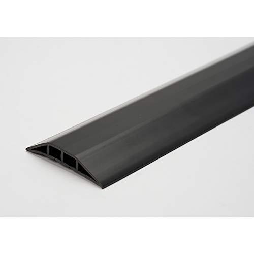 Kabelbrücke aus Kunststoff, für Schläuche bis Ø 10 mm beige, 2 Kammern, Länge 3 m - Fahrbahnschwellen cable covers duct