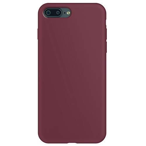 ZhinkArts Funda de silicona para teléfono móvil compatible con Apple iPhone 7 Plus/8 Plus, pantalla de 5,5 pulgadas, carcasa con forro de microfibra, color morado