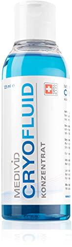 MEDIVID CRYO Fluid Konzentrat zur Kühlung von Verletzungen / Schmerzlinderung bei Sportverletzungen mittels Bandage – 125 ml Konzentrat zum Verdünnen, 15 Anwendungen