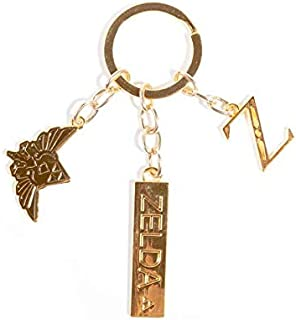 The Legend of Zelda Metal Charms Keychain Porte-clés 16 Centimeters or (Gold)