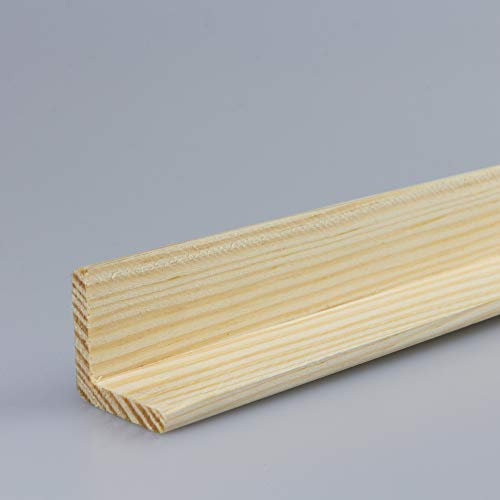 Winkelleiste Schutzwinkel Winkelprofil Tapeten-Eckleiste Abschlussleiste Abdeckleiste aus Kiefer-Massivholz 2400 x 28 x 28 mm