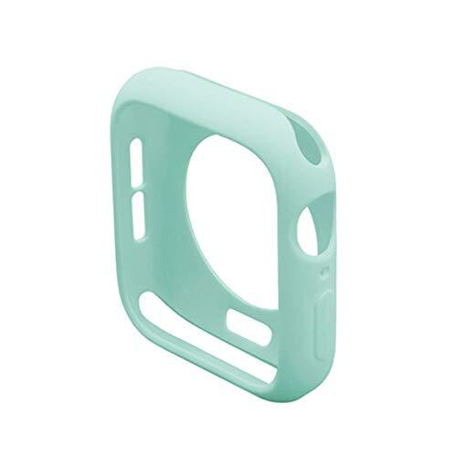 LAAGFC Carcasa protectora de TPU para Apple Watch 5, 4 y 3 (44 mm, 40 mm, 42 mm y 38 mm), resistente a los arañazos (color: azul claro, diámetro: 38 mm, Series 3, 2, 1)