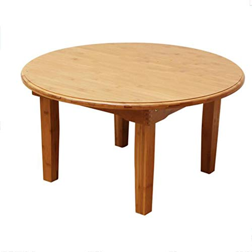 JU FU Table pliante - Table pliante carrée, Table en bambou en bois massif - Petite table basse/Table basse/Table de sol/Table tatami [Multi-size Selection] | (taille : 80X37cm)
