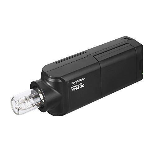 YONGNUO YN200 Tragbares TTL-Blitzgerät Speedlite Kit für den Außenbereich mit 2900 mAh Lithium-Batterie und Ladegerät für Nikon Sony Canon EOS DSLR-Kameras