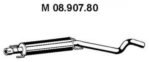 EBERSPÄCHER 08.907.80 Mittelschalldämpfer