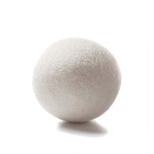 GFCGFGDRG Palle 6PCS Tessuto Naturale ammorbidente Riutilizzabile Tempo di Asciugatura Risparmio Dryer Riutilizzabile Abbigliamento Rughe Ridurre Lana Dryer Balls
