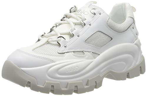 Liu Jo Shoes Wave 01-Sneaker, Scarpe da Ginnastica Basse Donna, Bianco (White 01111), 38 EU