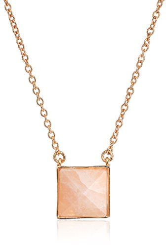 Vera Bradley Women's Casual Glam Pendant Necklace, Rose Gold Tone with Pink, One Size