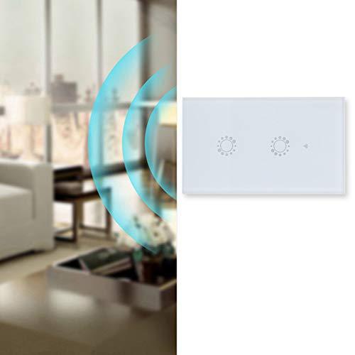 Interruptor táctil, Panel de interruptores de Pared 95‑240VAC inalámbrico con Control Remoto Inteligente con teléfono Inteligente para la aplicación Ewelink/Smart Life