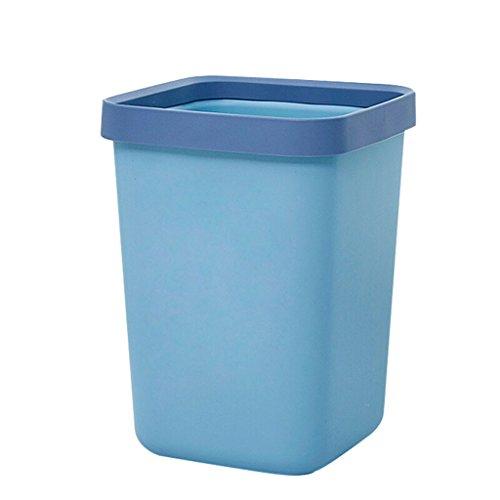 Yuanyuanliu Druckring Kunststoff Quadrat Mülleimer Medium Quadrat Mülleimer Küche Bad Haushalt Reinigung Eimer Büro Umweltschutz Papierkorb (Size : 10L)