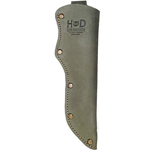Hide & Drink, Thick Leather Mora Knife Sheath w/Belt Loop Handmade Includes 101 Year Warranty :: Peat Moss