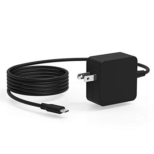 45W 7.5Ft USB-C AC Charger Fit for Lenovo Yoga 910 720 910-13 720 720-13 910-13IKB 910-131KB 720-13IKB 720-131KB Glass, Chromebook 100e 300e 500e c330 Laptop USB Type C Power Supply Adapter Cord