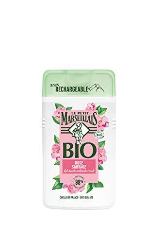 Le Petit Marseillais gel Douche Bio Hydratant, au Ph Neutre, Rose Sauvage, 250ml