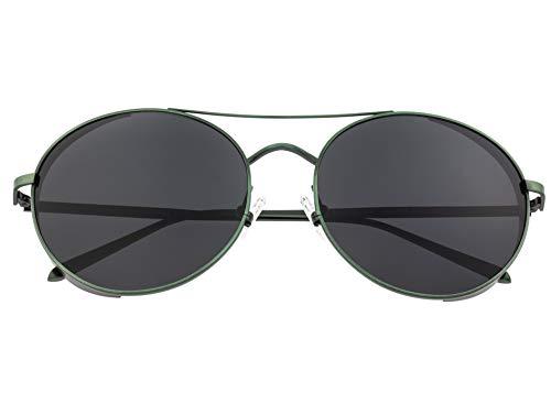 Breed Barlow Herren Sonnenbrille, rund, polarisiert, BSG055, BSG055GN, Grün, BSG055GN