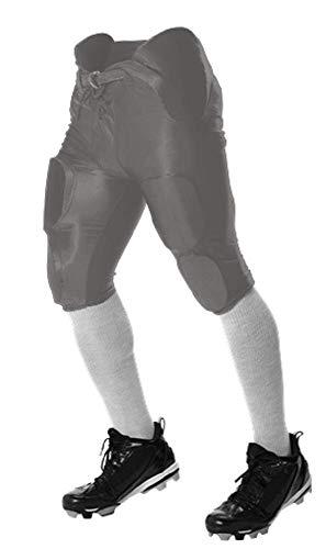 Alleson Athletic integrierte Football-Hose aus der Kollektion Youth Solo, Jungen Mädchen, silber, Medium