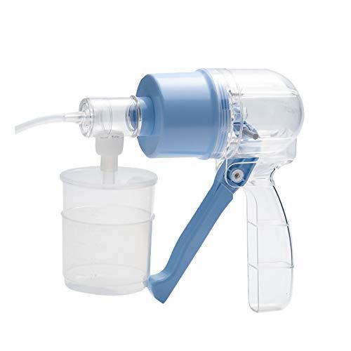 YAOUFBZ Bomba de succión portátil Manual,máquina de secreción de moco flema portátil de Mano Kit de Terapia doméstica para Ancianos y niños: fácil de Limpiar