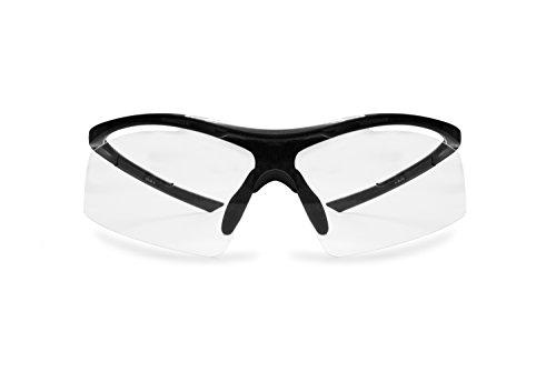 Radbrille Selbsttönend Polarisiert – Fahrradbrille Photochrome Sportbrille Sonnenbrille Ski Laufen Golf Running by Snatch Italy (Matt Schwarz / Shiny Schwarz, Photochromen) - 3