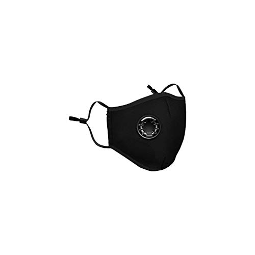 LOMONER Face Protection M-a-s-k Disposable Unisex Protection Mouth M-a-s-k with Earloops Protective for Germs (Black)