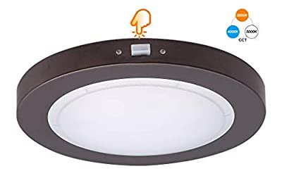 Cloudy Bay 7.5 inch 3 Color LED Flush Mount Ceiling Light 12W CRI90 Dimmable, CRI 90+, 3000K/4000K/5000K Adjustable, Oil Rubbed Bronze Finish