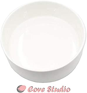 Modern White Ceramic Bowl/Round Succulent Cactus Planter Pot - 6 Inch - Decorative Garden Flower/Plants Holder Bowl